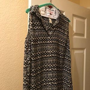Black and white printed H&M Sleeveless blouse